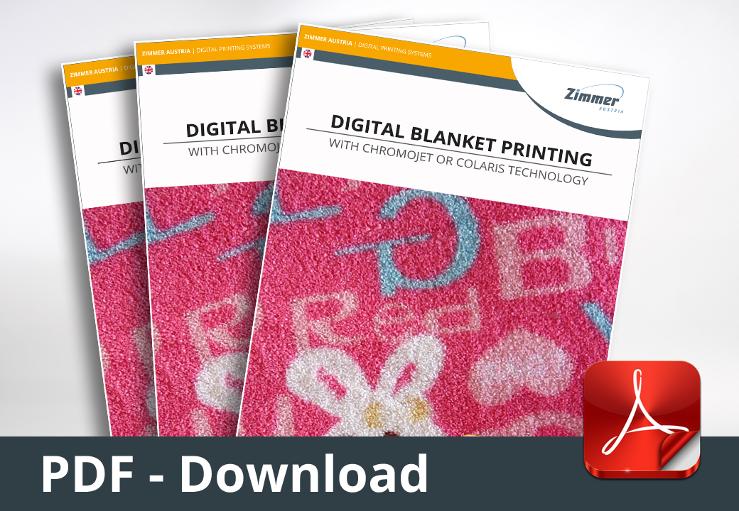 Digital Blanket Printing with CHROMOJET or COLARIS