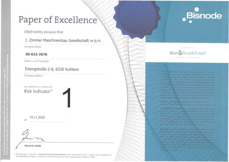 2020 DB Rating Certificate