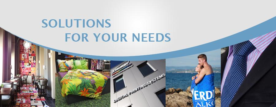 Solutions for your needs - ZIMMER AUSTRIA Digital Printing